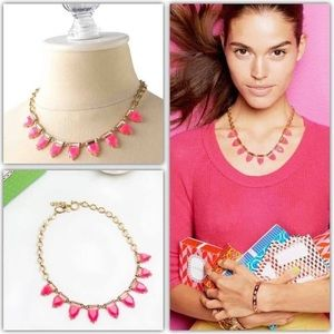 NWOT Stella & Dot Eye Candy Necklace Pink